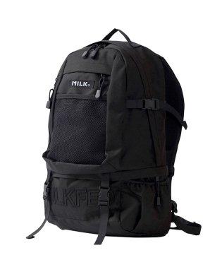 MILKFED ミルクフェド embroidery big backpack リュック バックパック レディース 通勤 通学 ナイロン ボックスロゴ ストリート