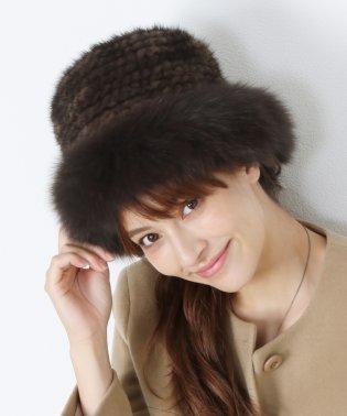 ミンクファー帽子