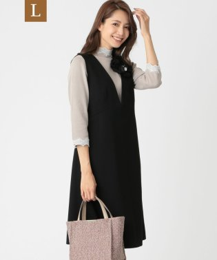 【L】シルケットポンチジャンバースカート