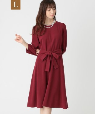 【L】スウェードタッチジャージドレス