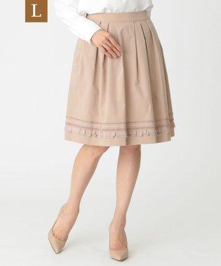 【L】【ウォッシャブル】ゼフィールタフタスカート