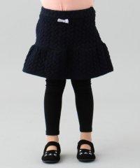 【80~130cm】裏起毛スパッツ付きニットキルトスカート