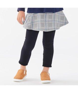 スカート付きレギンス_裏シャギー 10分丈