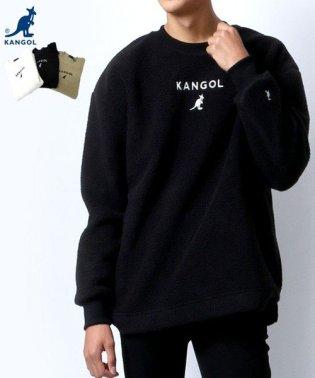 【KANGOL】カンゴール シープボア ミニロゴ刺繍 クルーネック