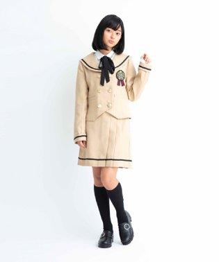 セーラー衿ジャケット×ライン切替プリーツスカパンセットアップ