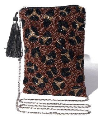 カシュカシュ cachecache / アソートモチーフビーズ刺繍チェーンショルダーバッグ