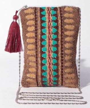 カシュカシュ cachecache / ジャガードモチーフビーズ刺繍チェーンショルダーバッグ