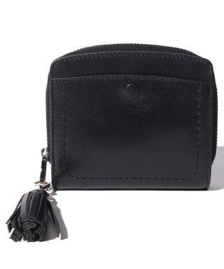 ペルケ perche / インド牛革くるみホックラウンド二つ折り財布