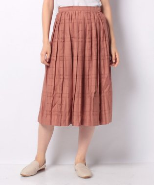 【Te chichi】シャドウチェックプリーツスカート