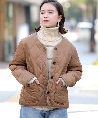 【WEB限定】キルティングミドルジャケット