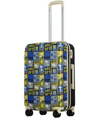 SNOOPY PEANUTS Friends スヌーピー プリント スーツケース M 中型 TSAロック 超軽量 4輪キャスター 機内持込可