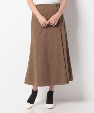 ピーチ起毛ボタン付スカート