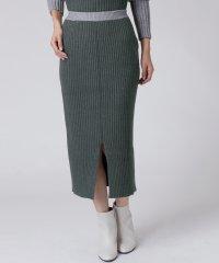 【セットアップ対応商品】[radiate the lifedress]配色リブニットスカート