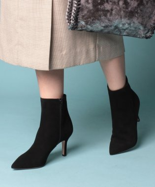 POINTED TOE SHORT BOOTS 8cm