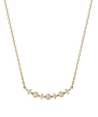 K10 ダイヤモンド マタタキ7セキネックレス(YG)