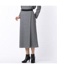 グレンチェック オールゴムスカート【セットアップ対応】
