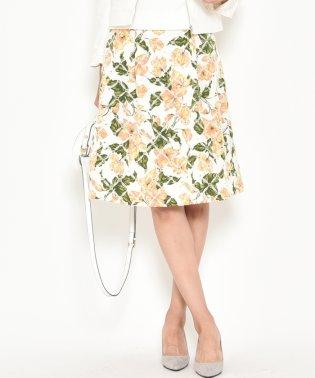フラワープリント刺繍スカート
