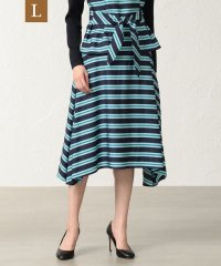 【L】【ITALY FABRIC】ネオンボーダースカート