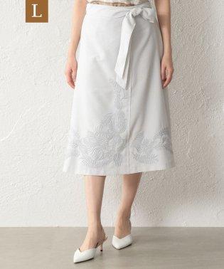 【L】【ウォッシャブル】ダルスラブ刺繍スカート