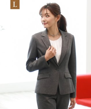 【L】【セットアップ対応】【美Jacket】ストレッチポンチテーラードジャケット