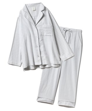 【セットアップ】ネルチェックシャツ&ロングパンツSET