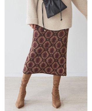 ダマスクニットタイトスカート