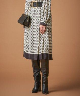 ◆◆チェーンフラワープリントプリーツスカート