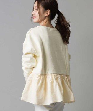 【OMNES】裏起毛 スウェット 裾異素材フリルプルオーバー