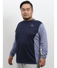 【大きいサイズ】ミズノ/MIZUNO 杢切替長袖Tシャツ