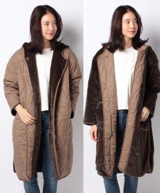 【MIDIUMISOLID for ladies】quilting reversible hooded coat