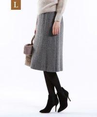 【L】ウールヘリンボンツイードスカート