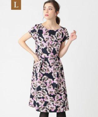 【L】フラワープリントドレス