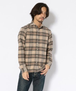 SCROLL(スクロール)ナチュラルチェックブラッシュシャツ
