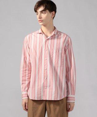 【WEB先行予約】コットンストライプ ホリゾンタルカラーシャツ