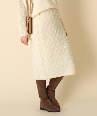 【WEB限定プライス/手洗い可】ミックス編みニットスカート
