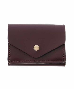 アイティールフェイクレザー三つ折りミニ財布