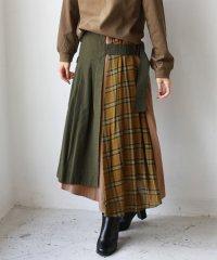 サイドチェックアシメスカート