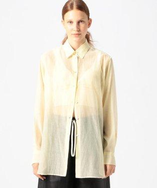 【WEB先行予約】コットンシルクリネンボイル ロングシャツ
