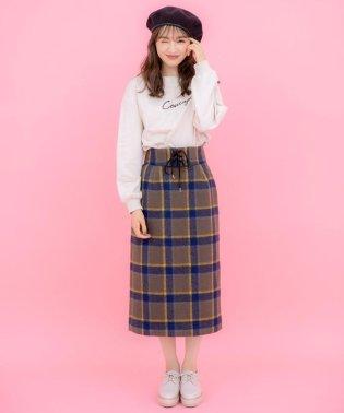 メルトンBIGチェックタイトスカート