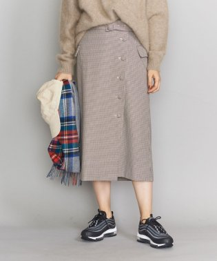 BY ハウンドトゥースチェックラップタイトスカート