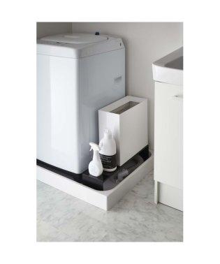 伸縮洗濯機排水口上ラック タワー ブラック