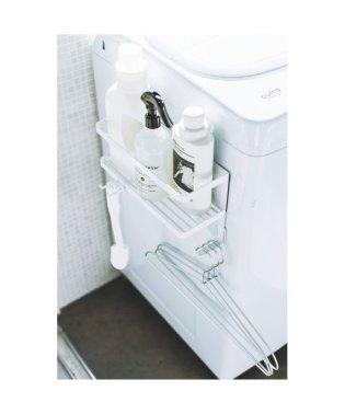 ホースホルダー付き洗濯機横マグネットラック タワー  ホワイト