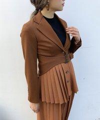 【セットアップ対応商品】ベルト付テーラードジャケット