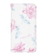 rienda[全面/Lace Flower/ホワイト]手帳ケース iPhoneXR