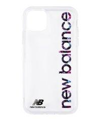 New Balance [TPUクリアケース/縦ロゴ/フラワー柄] iPhone11