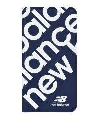 New Balance [スリム手帳ケース/スタンプロゴ/ネイビー] iPhone11