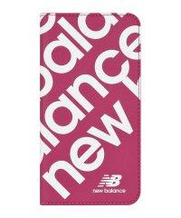 New Balance [スリム手帳ケース/スタンプロゴ/ピンク] iPhone11
