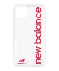 New Balance [TPUクリアケース/縦ロゴ/レッド] iPhone11Pro