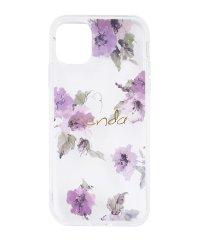 rienda[TPUクリア/Parm Flower]インモールドケース iPhone11