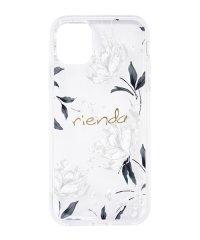 rienda[TPUクリア/Grace Flower]インモールドケース iPhone11
